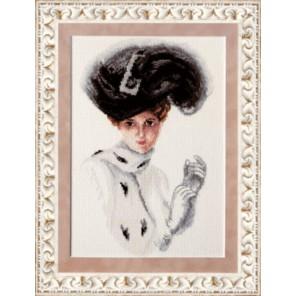 Дама в горжетке Набор для вышивания Чаривна Мить М-166