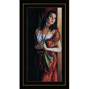 Lady & Scarf Набор для вышивания Lanarte PN-0168603