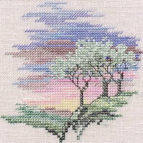 Frosty Trees Набор для вышивания Derwentwater Designs