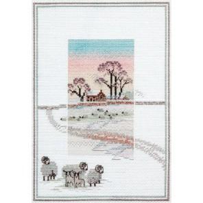 Snowy Sheep Набор для вышивания Derwentwater Designs MM6
