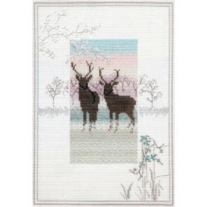 Frosty Deer Набор для вышивания Derwentwater Designs MM5