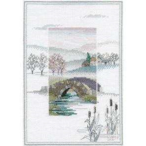 Winter Bridge Набор для вышивания Derwentwater Designs MM2