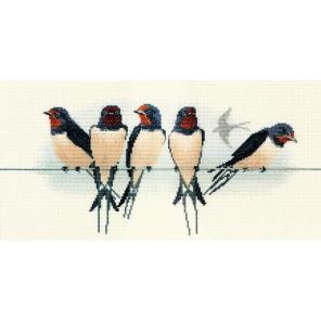 Swallows Набор для вышивания Derwentwater Designs BB05