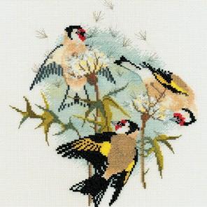 Goldfinches & Thistles Набор для вышивания Derwentwater Designs BB04