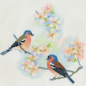 Chaffinches & Blossoms Набор для вышивания Derwentwater Designs BB02