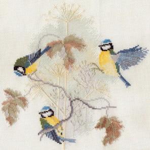 Blue Tits & Seed Heads Набор для вышивания Derwentwater Designs BB01