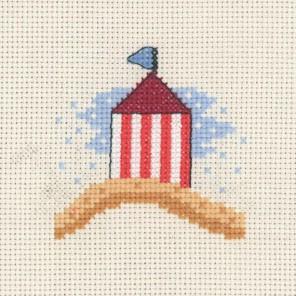 Домик на пляже Набор для вышивания Permin 14-3134
