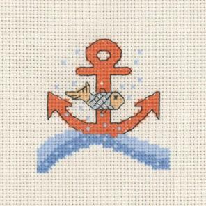 Якорь и Рыбка Набор для вышивания Permin 14-3131