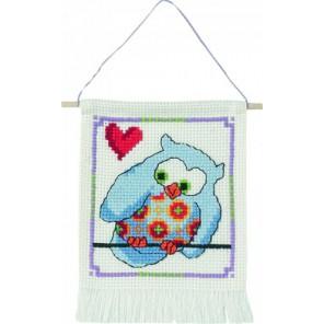 Синяя сова Набор для вышивания Permin 13-4844