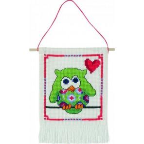 Зелёная сова Набор для вышивания Permin 13-4842