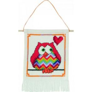 Красная сова Набор для вышивания Permin 13-4840