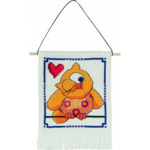 Жёлтая сова Набор для вышивания Permin 13-4841