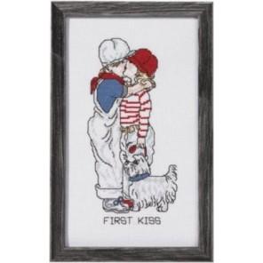 Первый поцелуй Набор для вышивания Permin 92-1181