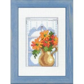 Хризантема на подоконнике Набор для вышивания Permin 92-9312