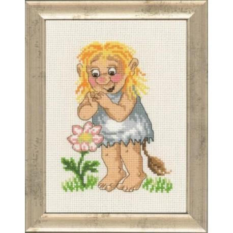 Девочка тролль Набор для вышивания Permin 92-1586