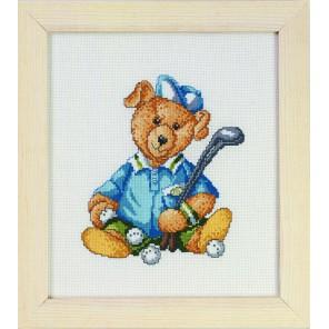 Мишка бейсболист Набор для вышивания Permin 12-0400
