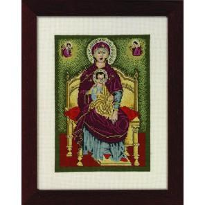 иконы Божья Матерь Набор для вышивания Permin 12-4102