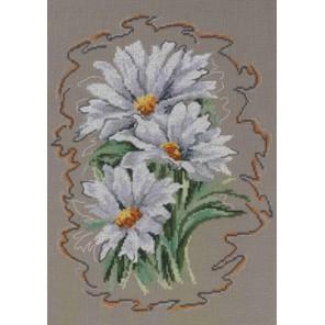 Белые ромашки Набор для вышивания Permin 90-5334