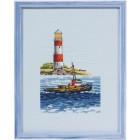 Лодка и маяк Набор для вышивания Permin 92-2108