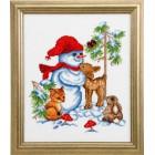 Снеговик Набор для вышивания Permin 92-7217