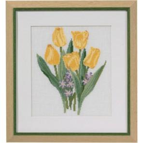 Жёлтые тюльпаны Набор для вышивания Permin 70-2302