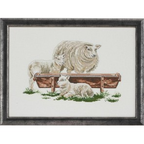 3 овечки Набор для вышивания Permin 92-4175