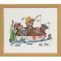 Счастливые друзья, рыбалка Набор для вышивания Permin 92-5123