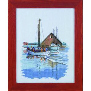 Рыбацкая лодка Набор для вышивания Permin
