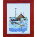 Рыбацкая лодка Набор для вышивания Permin 12-1315