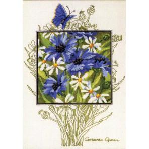 Васильки и бабочки Набор для вышивания Permin 90-5363