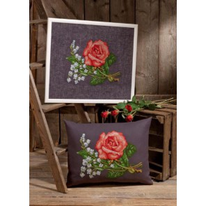Розы и лилии Набор для вышивания Permin 90-6426