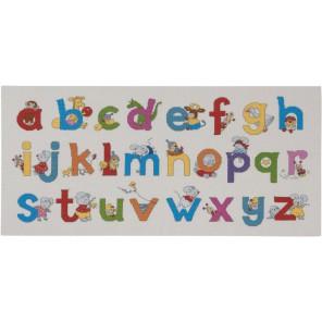 Счастливые друзья - Алфавит Набор для вышивания Permin 90-0397