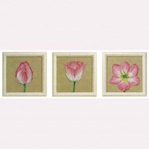 Тюльпаны, 3 сюжета Набор для вышивания Permin 70-3360