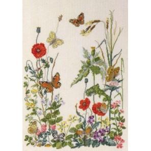8 бабочек Набор для вышивания Permin 90-4151