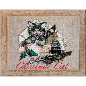 Christmas Cat (Рождественский кот) Набор для вышивки крестом Nimue 145-P014K