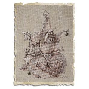 Le Herisson (Ёж) Набор для вышивки крестом Nimue 75-M014K