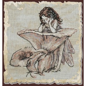 Miroir aux Girolles (Зеркало-лисичка) Набор для вышивки крестом Nimue 73-M012K
