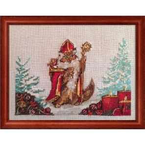 Chat Nicolas (Кот Николай) Набор для вышивки крестом Nimue 144-P012K