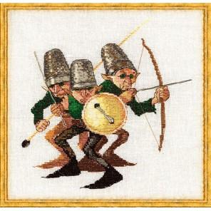 Guerre des Boutons (Война пуговиц) Набор для вышивки крестом Nimue 3-A003K