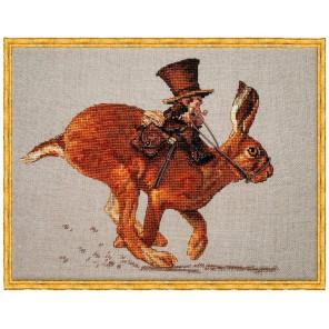 Le Lievre et le Postier (Заяц и почтальон) Набор для вышивки крестом Nimue