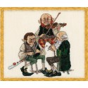 Uilleann pipe-Mus A (Музыкальная труба Уиллена) Набор для вышивки крестом Nimue