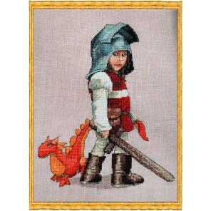 Chevalier & Doudou (Рыцарь и дракон) Набор для вышивки крестом Nimue 123-B004K