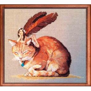 Fairycat (Фея и кот) Набор для вышивки крестом Nimue 152-A051K