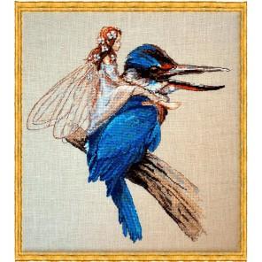 Le Martin-Pecheur (Зимородок) Набор для вышивки крестом Nimue 64-M010K