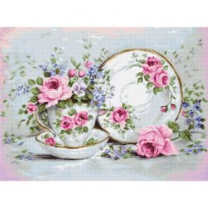 Трио и цветы Набор для вышивания Luca-S BA2318