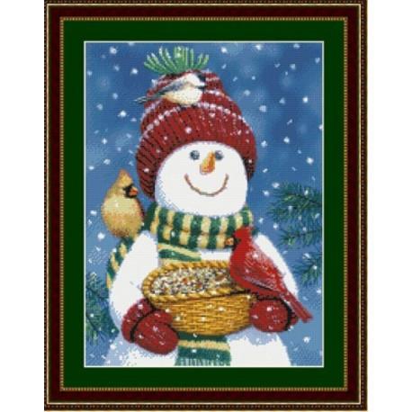 Друзья снеговика Набор для вышивания Kustom Krafts 99747