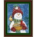 Друзья снеговика Набор для вышивания Kustom Krafts