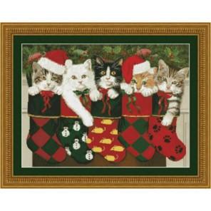 Рождественские носки Набор для вышивания Kustom Krafts 98237