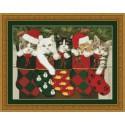 Рождественские носки Набор для вышивания Kustom Krafts
