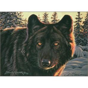 Черный волк Набор для вышивания Kustom Krafts 98567